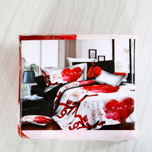 Love Heart Angle Pattern 4Pcs 3D Printed Bedding Set Bedclothes Home Textiles Quilt Cover Bed Sheet 2 PillowcasesHome &amp; Garden<br>Love Heart Angle Pattern 4Pcs 3D Printed Bedding Set Bedclothes Home Textiles Quilt Cover Bed Sheet 2 Pillowcases<br>