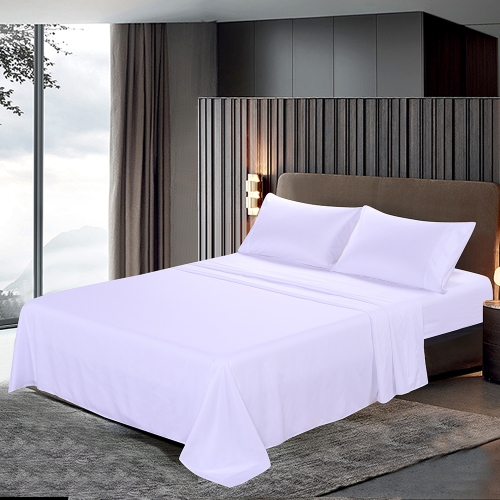 Htovila 4-Piece Bed Sheet Set Soft Brushed Microfiber Bedding Set Flat Sheet + Fitted Sheet + 2pcs Pillowcase--Queen Size + GreyHome &amp; Garden<br>Htovila 4-Piece Bed Sheet Set Soft Brushed Microfiber Bedding Set Flat Sheet + Fitted Sheet + 2pcs Pillowcase--Queen Size + Grey<br>