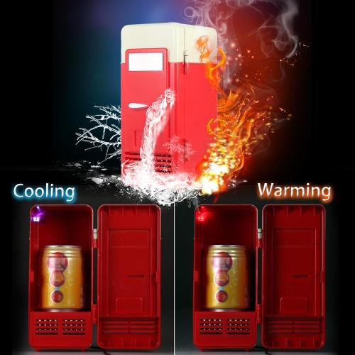 Mini USB Refrigerator Fridge Beverage Drink Cans Cooler Warmer Red Blue LED LightHome &amp; Garden<br>Mini USB Refrigerator Fridge Beverage Drink Cans Cooler Warmer Red Blue LED Light<br>