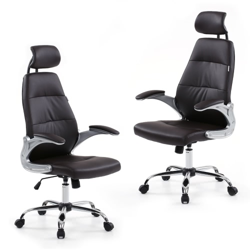 iKayaa Faux Leather Pneumatic Adjustable Office Executive Chair Stool High Back Ergonomic Swivel Computer Task Office FurnitureHome &amp; Garden<br>iKayaa Faux Leather Pneumatic Adjustable Office Executive Chair Stool High Back Ergonomic Swivel Computer Task Office Furniture<br>