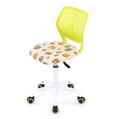 iKayaa Fashion Adjustable Fabric Teen Child Desk Chair Swivel Office Computer Task Chair Stool for Kids
