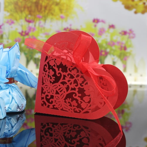 30PCS Heart Shaped Exquisite Laser Cut Candy Boxes for Wedding Party Favor Birthday Bridal Shower Gift Sweet BoxesHome &amp; Garden<br>30PCS Heart Shaped Exquisite Laser Cut Candy Boxes for Wedding Party Favor Birthday Bridal Shower Gift Sweet Boxes<br>