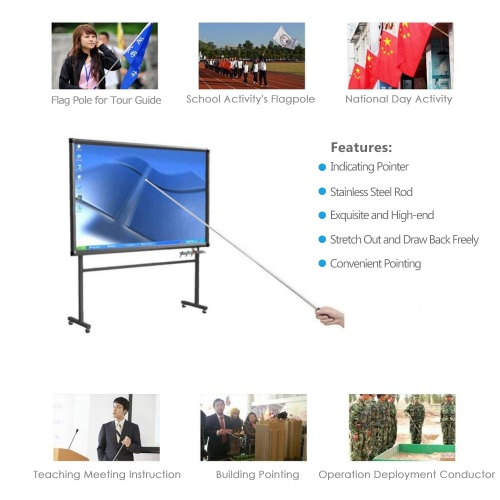 Brand New 1.2 Meters Outdoor Flagpole Stainless Steel Telescopic Flag Pole for Teachers Teaching Pointer Tour Guide Banner 47 FlHome &amp; Garden<br>Brand New 1.2 Meters Outdoor Flagpole Stainless Steel Telescopic Flag Pole for Teachers Teaching Pointer Tour Guide Banner 47 Fl<br>