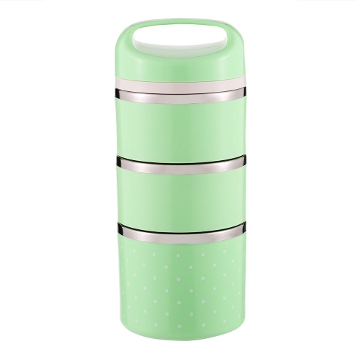 1380ml 3-Layer Good Quality Stainless Steel Thermal Lunch Box Practical Handy Insulation Lunch Box Multifunctional Heat &amp; Cold PreHome &amp; Garden<br>1380ml 3-Layer Good Quality Stainless Steel Thermal Lunch Box Practical Handy Insulation Lunch Box Multifunctional Heat &amp; Cold Pre<br>