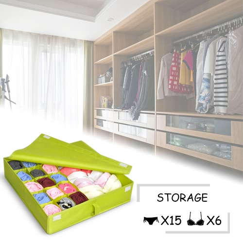 Multifunctional Waterproof Oxford Fabric Foldable Bra Underwear Storage Box Case Socks Ties Closet Drawer Organizer Container DiviHome &amp; Garden<br>Multifunctional Waterproof Oxford Fabric Foldable Bra Underwear Storage Box Case Socks Ties Closet Drawer Organizer Container Divi<br>