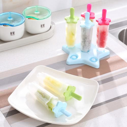 6 Push Up Popular Ice Cream Popsicle Maker Molds Sets DIY Star Shape Frozen Icy Ice Lolly Holder Tray Cool Summer Storage Box SnacHome &amp; Garden<br>6 Push Up Popular Ice Cream Popsicle Maker Molds Sets DIY Star Shape Frozen Icy Ice Lolly Holder Tray Cool Summer Storage Box Snac<br>