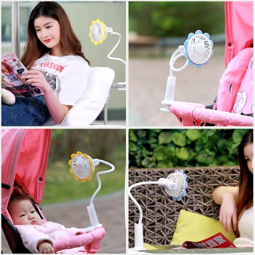 Portable USB Rechargeable Clip Fan Desktop Cooling Fan with Flexible Neck Adjustable Speed for Baby Stroller Home Office PinkHome &amp; Garden<br>Portable USB Rechargeable Clip Fan Desktop Cooling Fan with Flexible Neck Adjustable Speed for Baby Stroller Home Office Pink<br>