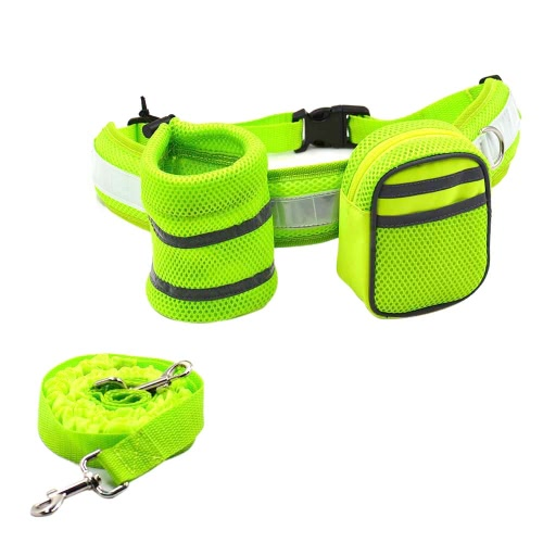 3-in-1 Hands Free Dog Leash Kit Pet Strap Lead Safety Traction Rope with Adjustable Waist Belt Bottle Holder Treat Pouch Bag for THome &amp; Garden<br>3-in-1 Hands Free Dog Leash Kit Pet Strap Lead Safety Traction Rope with Adjustable Waist Belt Bottle Holder Treat Pouch Bag for T<br>