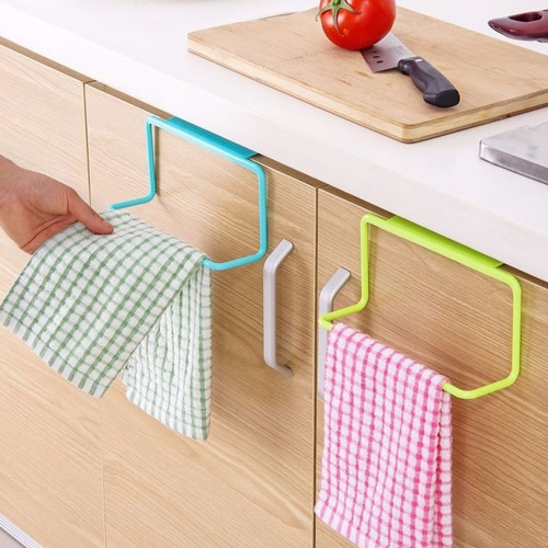 Cabinet Door Back Towel Holder Plastic Indented Towel Hanging Multi-purpose Kitchen Hanger RackHome &amp; Garden<br>Cabinet Door Back Towel Holder Plastic Indented Towel Hanging Multi-purpose Kitchen Hanger Rack<br>