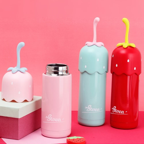 320ml Cute Strawberry Vacuum Water Cup Stainless Steel Vacuum Insulated Water Bottle High Quality Warm Keeping Water Bottle Heat &amp;Home &amp; Garden<br>320ml Cute Strawberry Vacuum Water Cup Stainless Steel Vacuum Insulated Water Bottle High Quality Warm Keeping Water Bottle Heat &amp;<br>