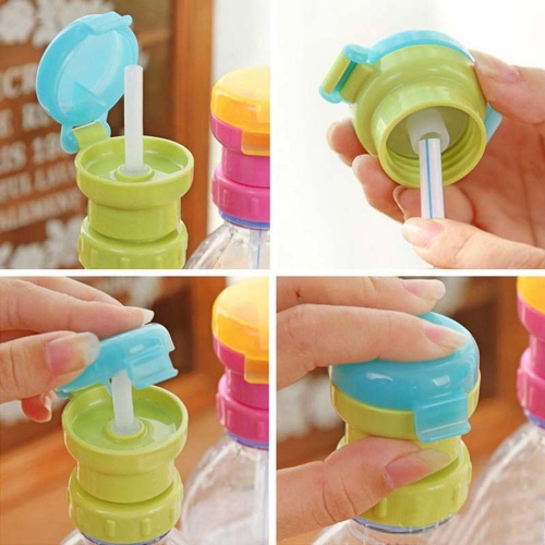 Baby Straw Lid Portable Converts to Bottle Snap Cap Infant Spill-proof Straw with Cap for   Toddles BabiesHome &amp; Garden<br>Baby Straw Lid Portable Converts to Bottle Snap Cap Infant Spill-proof Straw with Cap for   Toddles Babies<br>