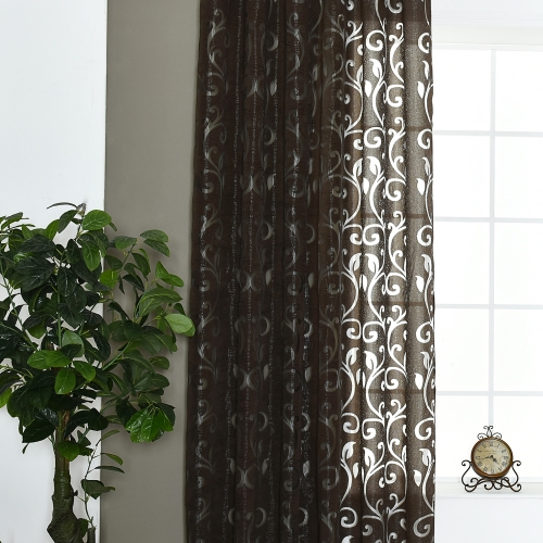 39 * 98 inches Polyester Semi-Blackout Grommet Top Window Curtain Panel Living Room Bedroom Hotel Voile Curtain Drape--GreyHome &amp; Garden<br>39 * 98 inches Polyester Semi-Blackout Grommet Top Window Curtain Panel Living Room Bedroom Hotel Voile Curtain Drape--Grey<br>
