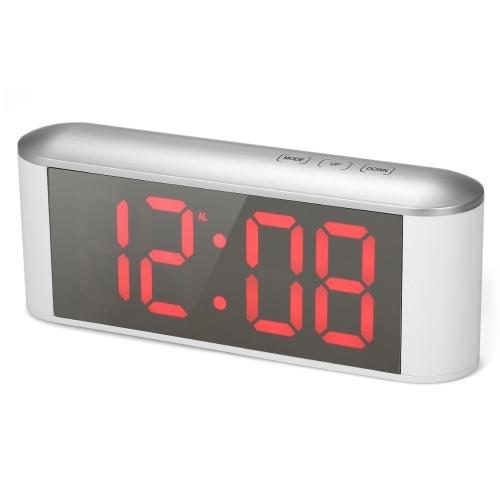 Digital Touch Control LED Mirror Clock