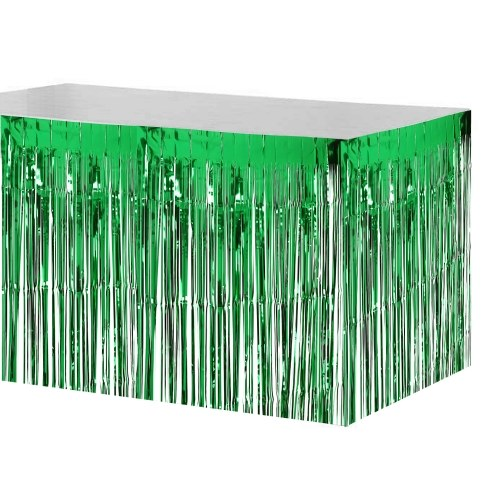 74 * 274cm Metallic Foil Fringe Table Skirt