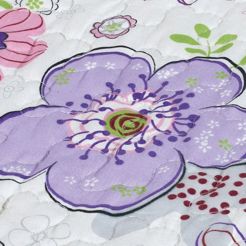 3Pcs Bedding Set 230 * 230 CM  Printed Flower Plant Cording Pattern Polyester Fiber Patchwork Quilt Comforter Pillow Cases BedclotHome &amp; Garden<br>3Pcs Bedding Set 230 * 230 CM  Printed Flower Plant Cording Pattern Polyester Fiber Patchwork Quilt Comforter Pillow Cases Bedclot<br>