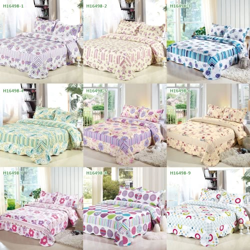 3Pcs Bedding Set 230 * 230 CM  Printed Flower Plant Cording Pattern Polyester Fiber Patchwork Quilt Comforter Pillow Cases BedclotHome &amp; Garden<br>3Pcs Bedding Set 230 * 230 CM  Printed Flower Plant Cording Pattern Polyester Fiber Patchwork Quilt Comforter Pillow Cases Bedclot<br>