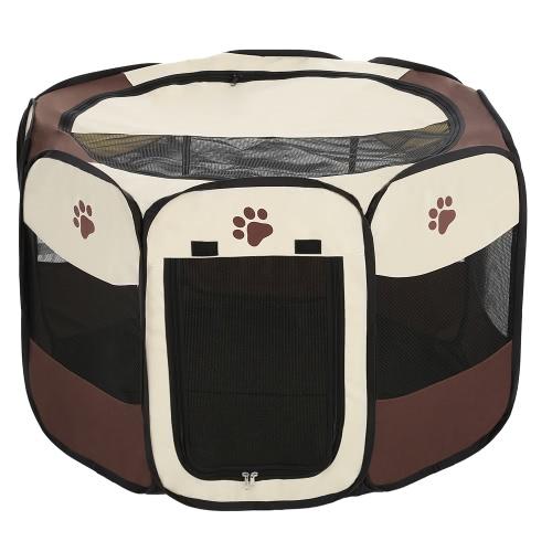 Портативный складной Открытый Крытый Pet Щенок Собака Кошка Играть Pen Палатка Всплывающие Ткань Сжатые Pet Кролик Свинья Упражнение Pen манеж забор