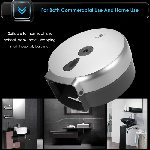 CHUANGDIAN Wall-mounted Bathroom Tissue Dispenser Round Paper Towel Holder Paper Towel Dispenser Storage Box for Big Paper Towel RHome &amp; Garden<br>CHUANGDIAN Wall-mounted Bathroom Tissue Dispenser Round Paper Towel Holder Paper Towel Dispenser Storage Box for Big Paper Towel R<br>