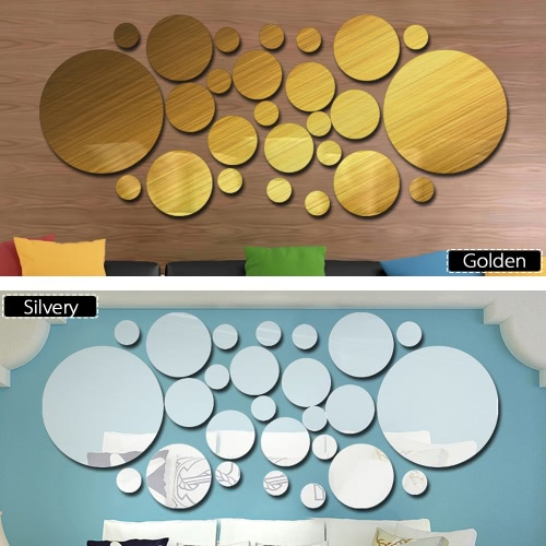 26pcs/set Acrylic Polka Dot Wall Mirror Stickers Room Bedroom Kitchen Bathroom Stick Decal Home Party Decoration Decor Art Mural SHome &amp; Garden<br>26pcs/set Acrylic Polka Dot Wall Mirror Stickers Room Bedroom Kitchen Bathroom Stick Decal Home Party Decoration Decor Art Mural S<br>