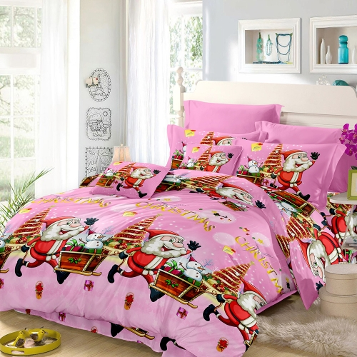 Christmas Santa Bedding Set Polyester 3D Printed Duvet Cover + 2pcs Pillowcases + Bed Sheet Set Christmas Bedroom Decorations--TwiHome &amp; Garden<br>Christmas Santa Bedding Set Polyester 3D Printed Duvet Cover + 2pcs Pillowcases + Bed Sheet Set Christmas Bedroom Decorations--Twi<br>