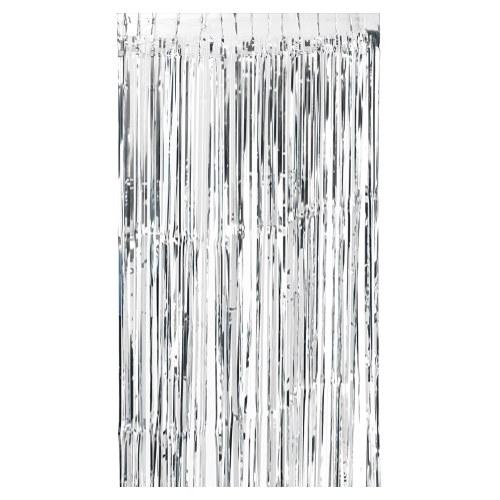 100 * 200cm Metallic Foil Fringe Curtain