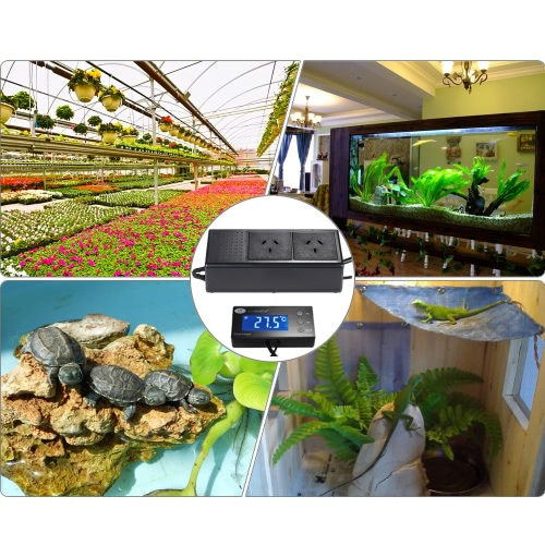 Digital LCD Backlight Aquarium Temperature Controller Thermostat Automatic Refrigeration &amp; Heating Exchange for Fish Tank ReptileTest Equipment &amp; Tools<br>Digital LCD Backlight Aquarium Temperature Controller Thermostat Automatic Refrigeration &amp; Heating Exchange for Fish Tank Reptile<br>