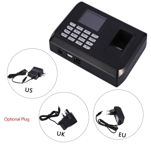 2.4 TFT LCD Display USB Biometric Fingerprint Attendance Machine DC 5V/1A Time Clock Recorder Employee Checking-in ReaderHome &amp; Garden<br>2.4 TFT LCD Display USB Biometric Fingerprint Attendance Machine DC 5V/1A Time Clock Recorder Employee Checking-in Reader<br>