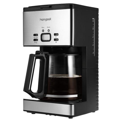 Homgeek gama alta 1.8L Cafetera Máquina 15 tazas de café cafetera programable con jarra de café y Equipo de medida