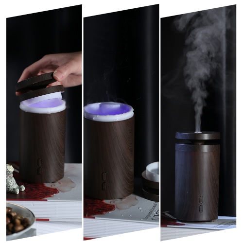 C1 100ml Car Air Humidifier Aroma Essential Oil Diffuser Aromatherapy 7 Colors LED Light Wood Grain Mist for Office Home EU PlugHome &amp; Garden<br>C1 100ml Car Air Humidifier Aroma Essential Oil Diffuser Aromatherapy 7 Colors LED Light Wood Grain Mist for Office Home EU Plug<br>
