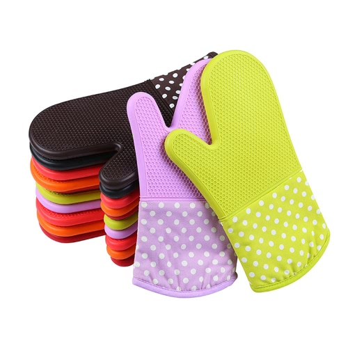 Silicone Oven Mitts With Trivet Quilted Cotton Lined Silicone Kitchen Glove Heat Resistant Potholder Gloves for Baking Cooking BBQHome &amp; Garden<br>Silicone Oven Mitts With Trivet Quilted Cotton Lined Silicone Kitchen Glove Heat Resistant Potholder Gloves for Baking Cooking BBQ<br>