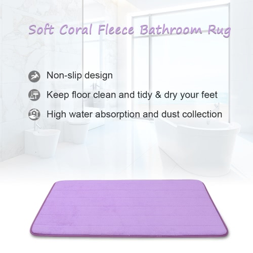 50 * 80cm Rectangular Soft Coral Fleece Bathroom Rug Non-slip Water Absorbent Shaggy Shower Mat Bathmat Bath Toilet Floor Rug GreyHome &amp; Garden<br>50 * 80cm Rectangular Soft Coral Fleece Bathroom Rug Non-slip Water Absorbent Shaggy Shower Mat Bathmat Bath Toilet Floor Rug Grey<br>