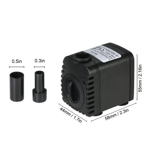 600L/H 8W Submersible Water Pump for Aquarium Tabletop Fountains Pond Water Gardens and Hydroponic Systems with 2 Nozzles AC220-24Home &amp; Garden<br>600L/H 8W Submersible Water Pump for Aquarium Tabletop Fountains Pond Water Gardens and Hydroponic Systems with 2 Nozzles AC220-24<br>