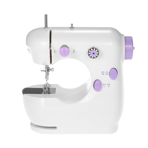 Multifunctional Mini Electric Household Sewing Machine Adjustable High/Low Speed with Foot Pedal LED Light  AC100-240VHome &amp; Garden<br>Multifunctional Mini Electric Household Sewing Machine Adjustable High/Low Speed with Foot Pedal LED Light  AC100-240V<br>