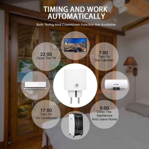 Smart Wi-Fi Mini Outlet Plug Switch Works With Echo Alexa Remote Control EU PlugHome &amp; Garden<br>Smart Wi-Fi Mini Outlet Plug Switch Works With Echo Alexa Remote Control EU Plug<br>
