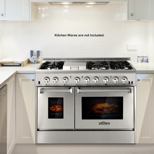 THOR KITCHEN HRD4803U 48inch Dual Fuel Range 48 6 Burner Stainless Steel Gas Range with Double Electric OvenHome &amp; Garden<br>THOR KITCHEN HRD4803U 48inch Dual Fuel Range 48 6 Burner Stainless Steel Gas Range with Double Electric Oven<br>
