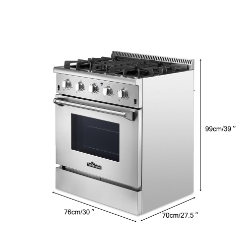 THOR KITCHEN HRG3026U High-end Style 30 4 Burners 4.2 Cu. Ft Good Quality Stainless Steel Free Standing Gas Range Professional KiHome &amp; Garden<br>THOR KITCHEN HRG3026U High-end Style 30 4 Burners 4.2 Cu. Ft Good Quality Stainless Steel Free Standing Gas Range Professional Ki<br>