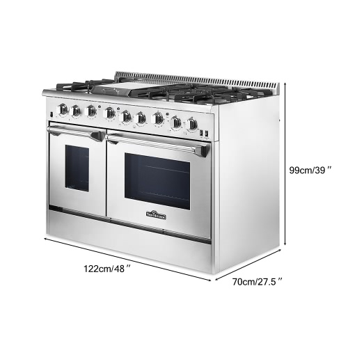 THOR KITCHEN HRG4808U High-end Modern Style 48 6 Burner Gas Range with Double Oven Stainless Steel Excellent Kitchen CookerHome &amp; Garden<br>THOR KITCHEN HRG4808U High-end Modern Style 48 6 Burner Gas Range with Double Oven Stainless Steel Excellent Kitchen Cooker<br>