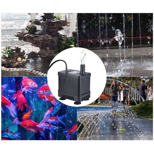Ultra-quiet Compact Submersible Brushless Oil Water Pump Max. Lift 1M 500L/H DC 12V for Fish Tank Aquarium Fountain CirculatingHome &amp; Garden<br>Ultra-quiet Compact Submersible Brushless Oil Water Pump Max. Lift 1M 500L/H DC 12V for Fish Tank Aquarium Fountain Circulating<br>