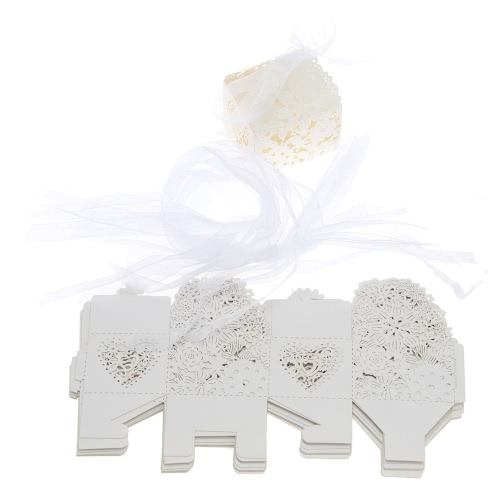 20 PCS Laser Cut Delicate Carved Flower Elegant Candy Boxes with Ribbon for Party Birthday Wedding Banquet Kindergarten Bridal ShoHome &amp; Garden<br>20 PCS Laser Cut Delicate Carved Flower Elegant Candy Boxes with Ribbon for Party Birthday Wedding Banquet Kindergarten Bridal Sho<br>