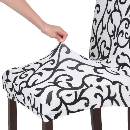High Quality Stretch Removable Washable Short Dining Chair Cover Soft Milk Silk Spandex Printing Chair Cover Slipcover for WeddingHome &amp; Garden<br>High Quality Stretch Removable Washable Short Dining Chair Cover Soft Milk Silk Spandex Printing Chair Cover Slipcover for Wedding<br>