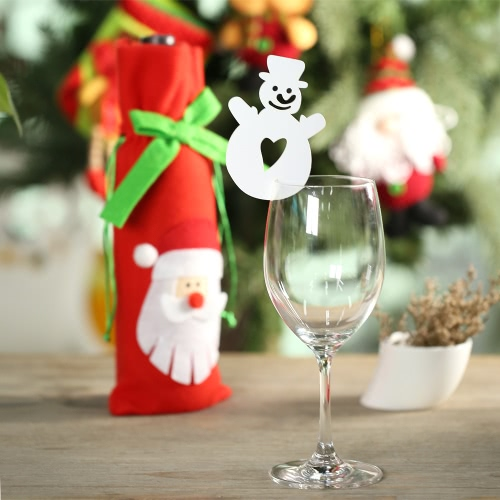 50pcs Delicate Carved Christmas Snowman Wine Glass Card Table Cards for Christmas Day Party Wedding Banquet DecorationHome &amp; Garden<br>50pcs Delicate Carved Christmas Snowman Wine Glass Card Table Cards for Christmas Day Party Wedding Banquet Decoration<br>