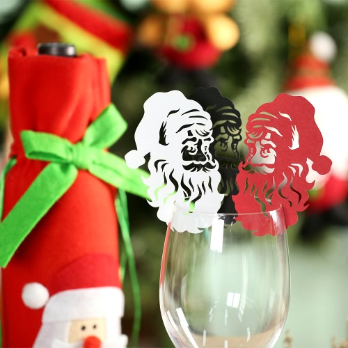 50pcs Delicate Wine Glass Card Table Cards Carved Santa Claus Pattern for Christmas Day Party Wedding Banquet DecorationHome &amp; Garden<br>50pcs Delicate Wine Glass Card Table Cards Carved Santa Claus Pattern for Christmas Day Party Wedding Banquet Decoration<br>