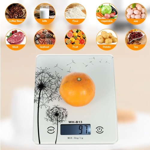 5KG/1G Accurate Touch Screen LCD Backlight Digital Kitchen Food Scale G/LB/OZ Electronic Weight Balance for Baking Cooking Tare FuHome &amp; Garden<br>5KG/1G Accurate Touch Screen LCD Backlight Digital Kitchen Food Scale G/LB/OZ Electronic Weight Balance for Baking Cooking Tare Fu<br>