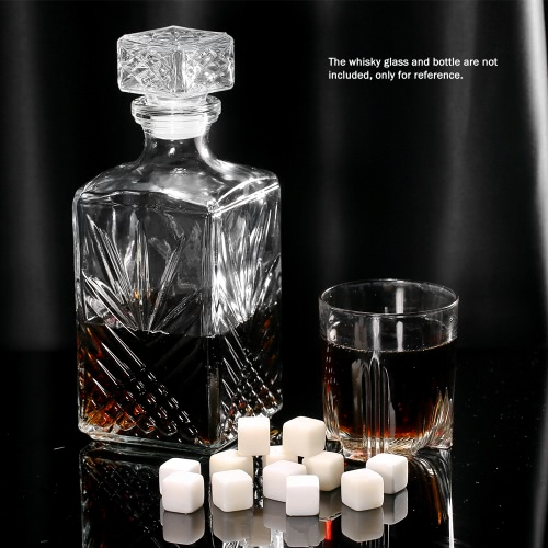 Anself 12pcs 20mm Whisky Ice Stones Drinks Cooler Cubes Beer Rocks Granite with PouchHome &amp; Garden<br>Anself 12pcs 20mm Whisky Ice Stones Drinks Cooler Cubes Beer Rocks Granite with Pouch<br>
