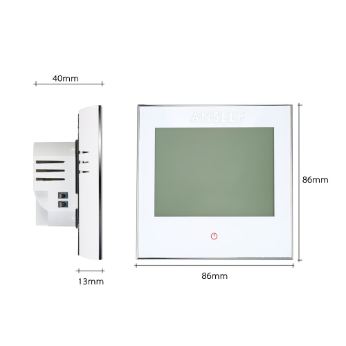 Anself 16A 110~240V Electric Heating Thermostat with Touch Screen LCD Display 7-Day Programmable Room Temperature Controller HomeHome &amp; Garden<br>Anself 16A 110~240V Electric Heating Thermostat with Touch Screen LCD Display 7-Day Programmable Room Temperature Controller Home<br>
