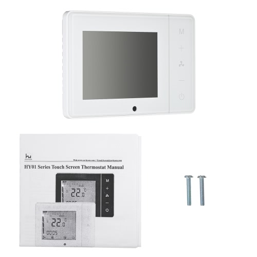 110~230V Air Conditioner 2-pipe 4-pipe Thermostat with LCD Display Good Quality Touch Screen Programmable Room Temperature ControlHome &amp; Garden<br>110~230V Air Conditioner 2-pipe 4-pipe Thermostat with LCD Display Good Quality Touch Screen Programmable Room Temperature Control<br>