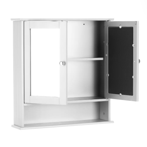 iKayaa Modern 2-Door Wall Cabinet with Glass Doors &amp; Shelves Kitchen Bathroom Wall Mount Cabinet Furniture White/BlueHome &amp; Garden<br>iKayaa Modern 2-Door Wall Cabinet with Glass Doors &amp; Shelves Kitchen Bathroom Wall Mount Cabinet Furniture White/Blue<br>