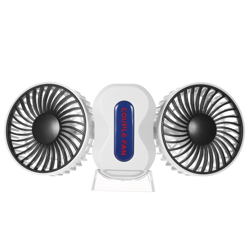 Portable Double-head USB Rechargeable Couple Fan Foldable 180° Rotation Adjustable Wind Speed Desktop Cooling Fan with Base WhiteHome &amp; Garden<br>Portable Double-head USB Rechargeable Couple Fan Foldable 180° Rotation Adjustable Wind Speed Desktop Cooling Fan with Base White<br>