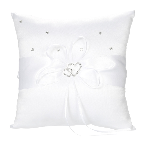 7 * 7 inches Double Heart Satin Wedding Ring Bearer Pillow with Rhinestone Diamond Decoration Wedding SuppliesHome &amp; Garden<br>7 * 7 inches Double Heart Satin Wedding Ring Bearer Pillow with Rhinestone Diamond Decoration Wedding Supplies<br>