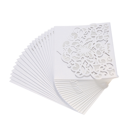 20pcs/set Wedding Invitation Cards Pearl Paper Laser Cut Hollow Butterfly Pattern Invitation Cards Kit--PinkHome &amp; Garden<br>20pcs/set Wedding Invitation Cards Pearl Paper Laser Cut Hollow Butterfly Pattern Invitation Cards Kit--Pink<br>